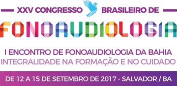 Logo do XXV XXV Congresso Brasileiro de Fonoaudiologia - Integralidade na Formação e no Cuidado